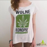 Damska Koszulka Wolne Konopie (Biała)