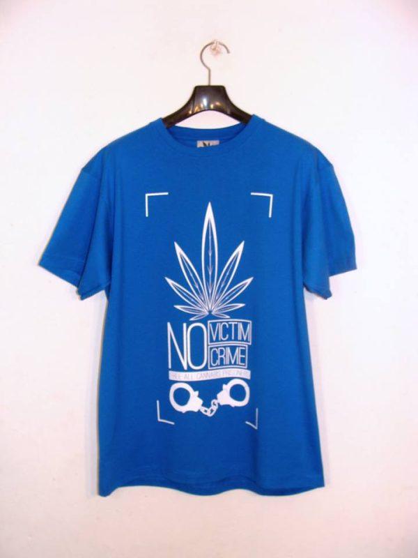 Koszulka NO VICTIM CRIME niebieska