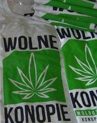 Koszulka Wolne Konopie szara
