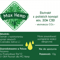 Max Hemp BIO 30% CBD/CBDa olej z konopi