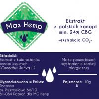 Max Hemp Ekstrakt CBG 24%