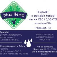 Max Hemp Ekstrakt CBG 4%