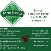 Max Hemp olej konopi CBD / CBDa 50%