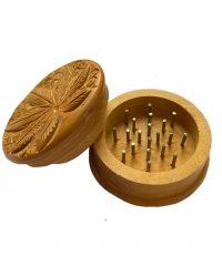 """Młynek Drewniany """"Liść"""" - śr. 50mm"""