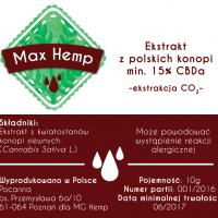Max Hemp Pasta 15% CBD-A / CBD