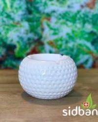 Popielniczka ceramiczna biała